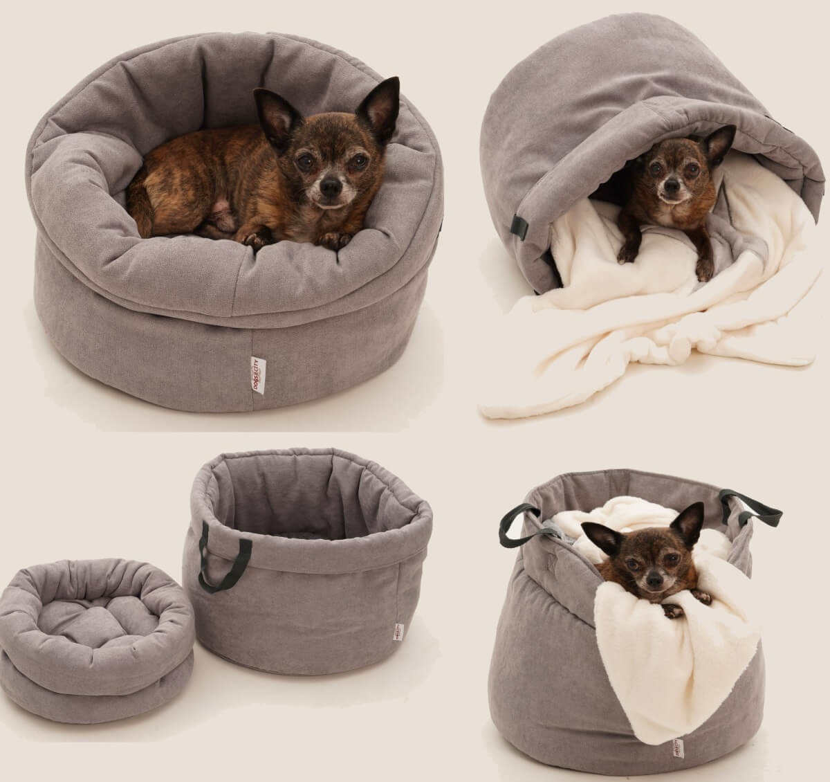 LITTLE BASKET DOG BAG SHOPPER & CUDDLY COVE ...all in one... | DOGS in the CITY