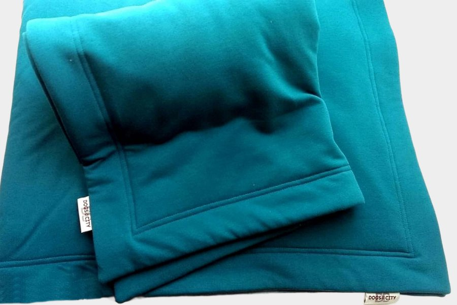 Dog Blanket Sports Sweatshirt petrol blue