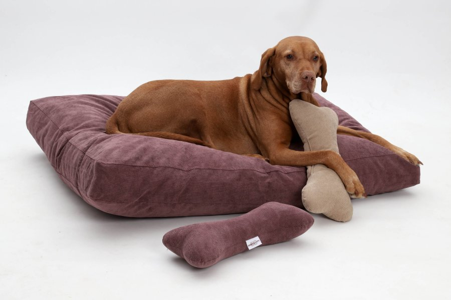 Dog Bed Cushion Madison Mauve Berry Dogs In The City