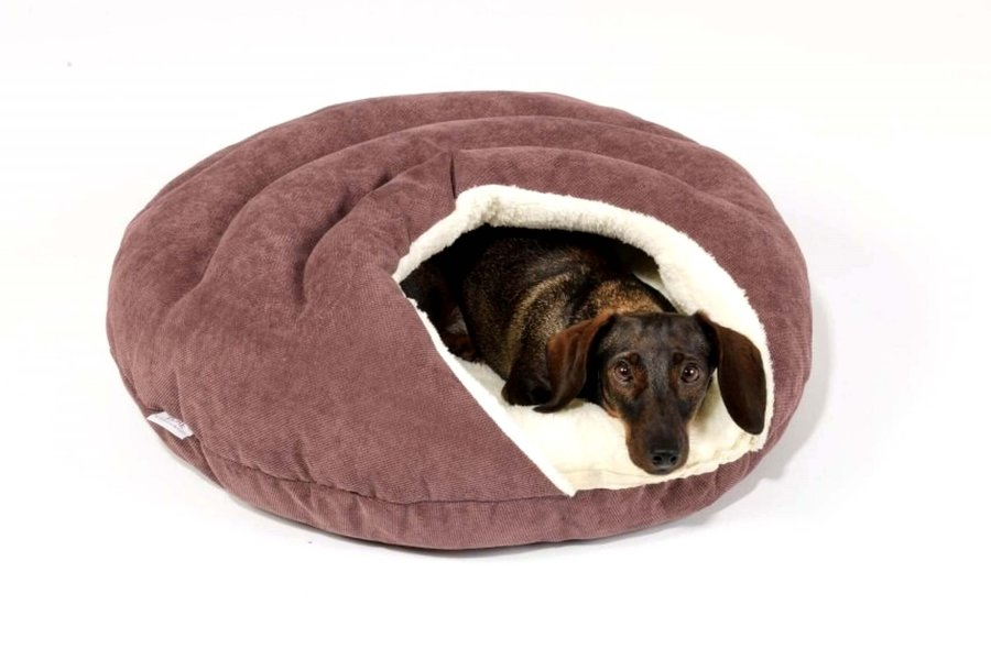 Dog Bed cave Bubble mauve berry