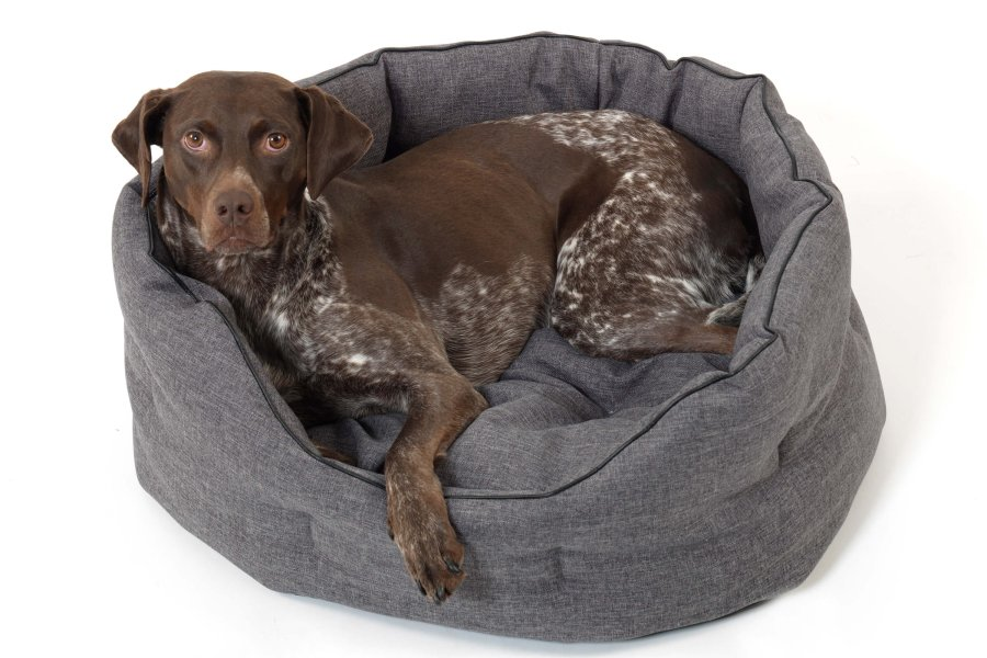 Dog Bed Basket New York anthracite