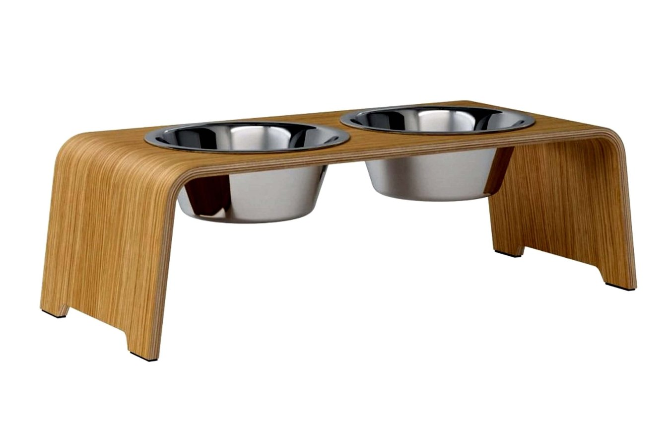 dogBar® M - light oak with stainless steel