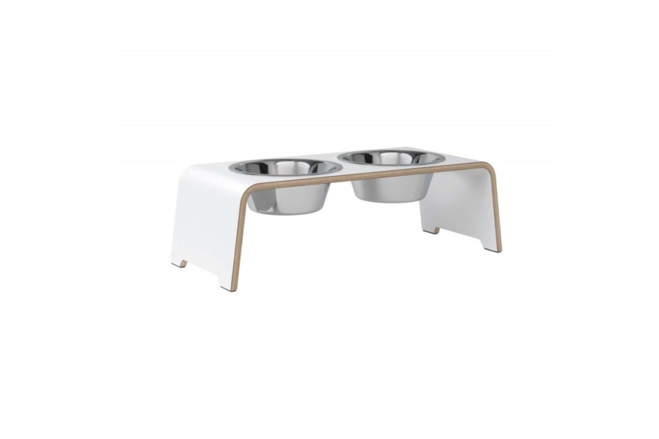 dogBar® M - HPL white with stainless steel