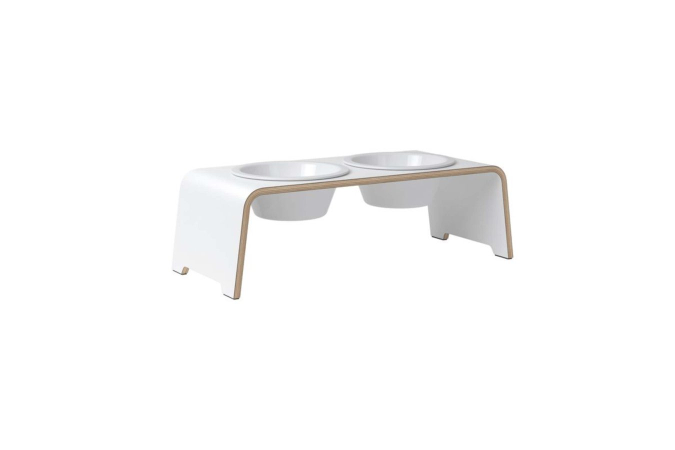 dogBar® M - HPL white with porcelain