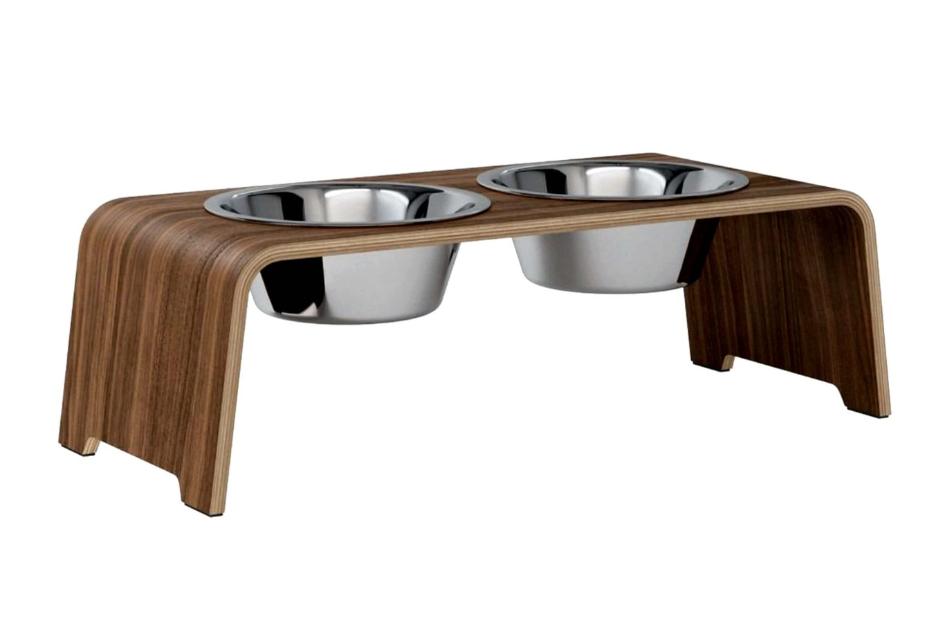 dogBar® M - walnut with stainless steel