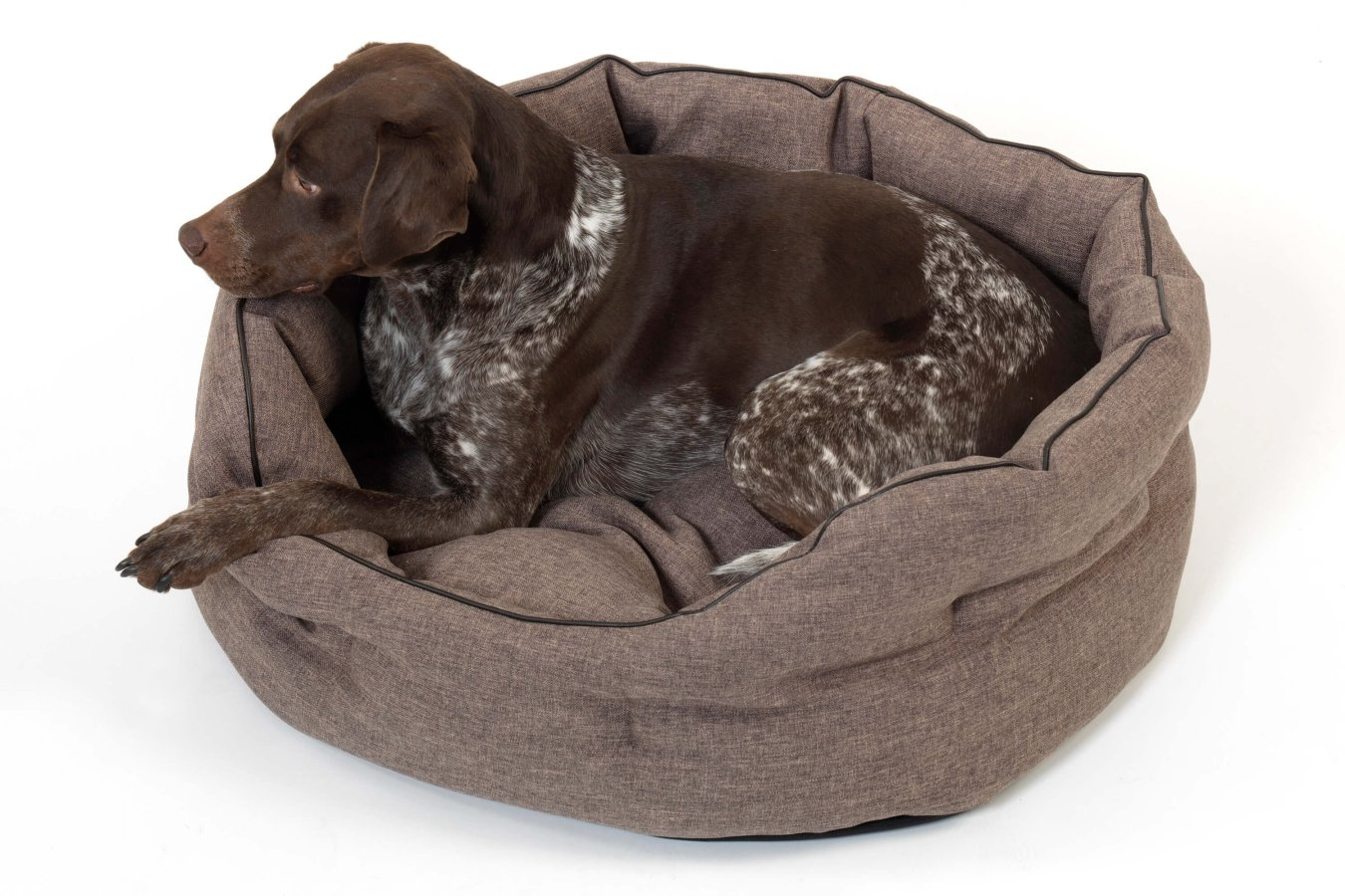 Dog Bed Basket New York brown
