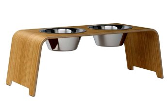 dogBar® L - light oak with stainless steel
