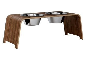 dogBar® L - walnut with stainless steel