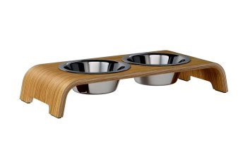 dogBar® S - light oak with stainless steel