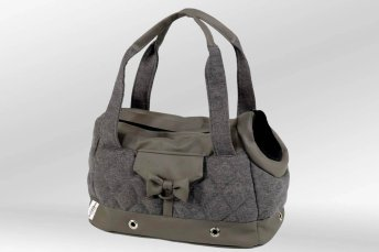 Dog Bag Soho taupe grey